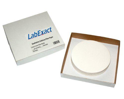 Medium Speed Pore Size 85 gsm Eisco Labs Premium Qualitative Filter Paper Pack of 100 10 micron 12.5cm Dia. 10?