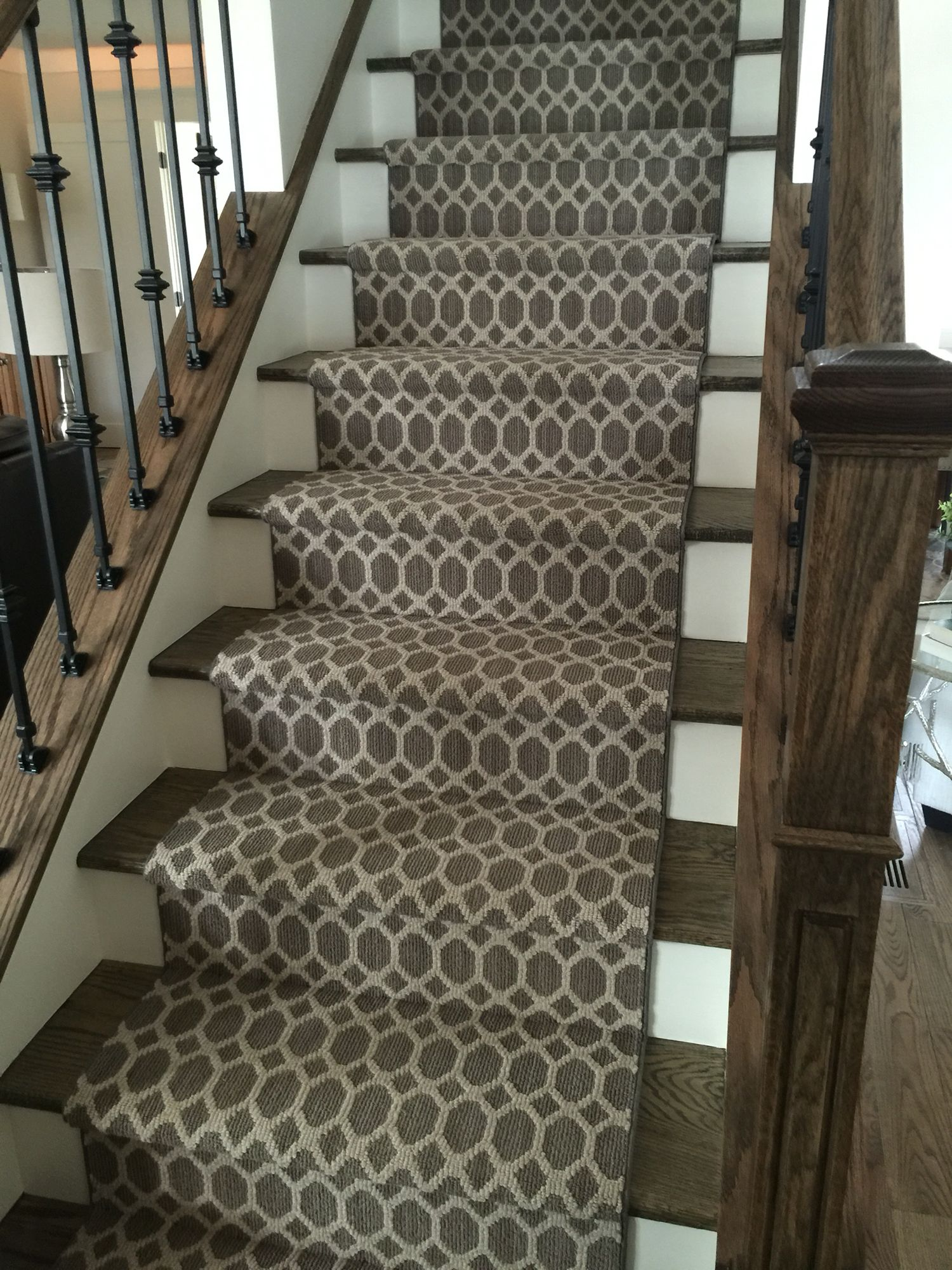 Geometric Stairs Geometric Staircase Melbourne: Geometric Staircase Runner Installation. A Stanton Carpet