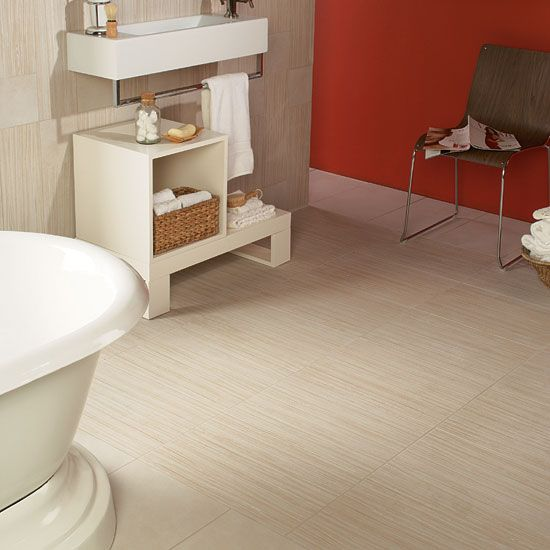 Veranda Tones by Daltile, creates nice linear visuals! This white color is called Zen Garden!