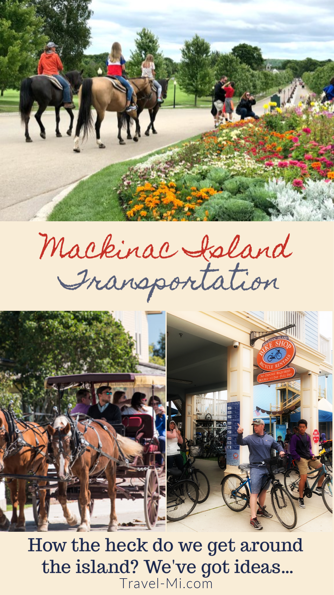 Mackinac Island Transportation Mackinac Island Michigan