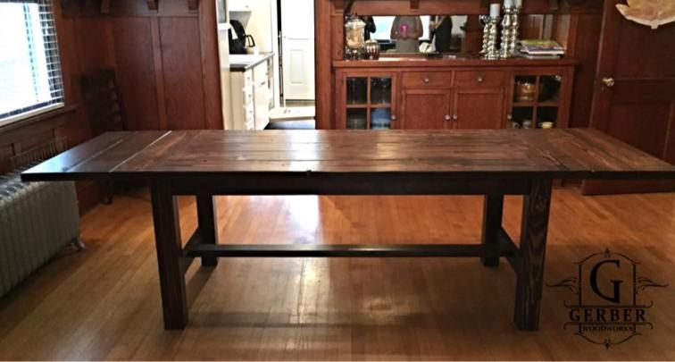 Kona Standard Farmhouse Table with Extensions