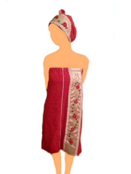 abe4a59e58bd Bath wrap with silk embroidery | Sultana Handmade | Dresses ...