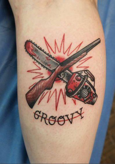 c53497138 Evil Dead tattoo. Work done by Myles Kimball at Black Door Tattoo Portland,  ME