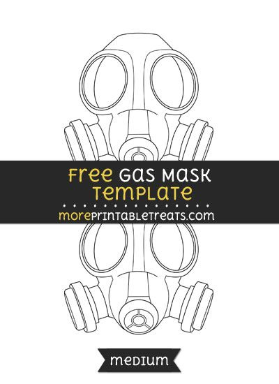 Free Gas Mask Template - Medium | Shapes and Templates Printables ...