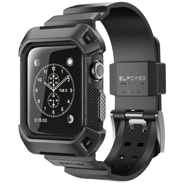 83c536d2c19 SUPCASE Rugged Protective Case with Strap for Apple Watch