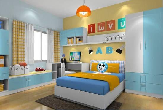 37 Joyful Kids Room Design Ideas With Blue Yellow Tones Blue Bedroom Walls Kids Room Design Yellow Bedroom