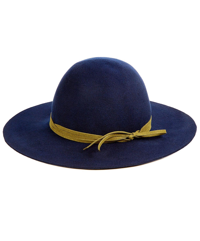 c4d0acfc461 Hat Attack Navy Felt Round Floppy Hat