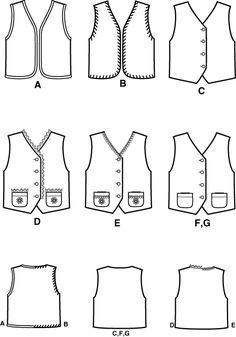 Unisex Child Vest Pattern Ta2 Vest Pattern Sewing Et