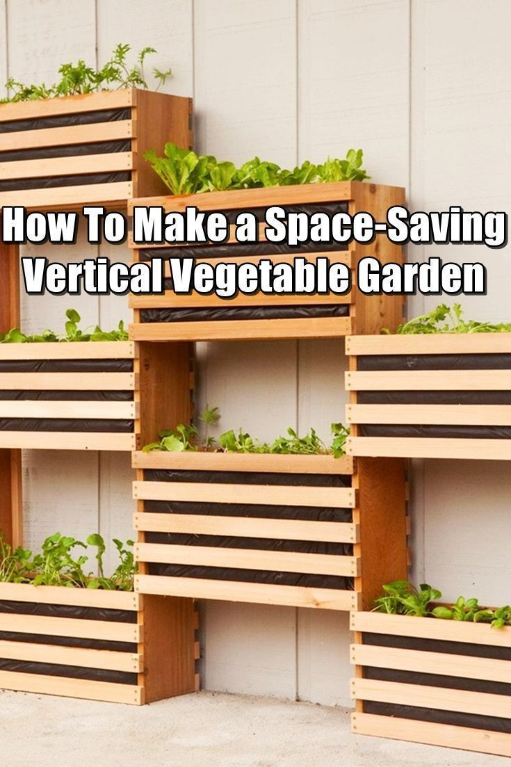 How To Make a Space-Saving Vertical Vegetable Garden - Growing your ...