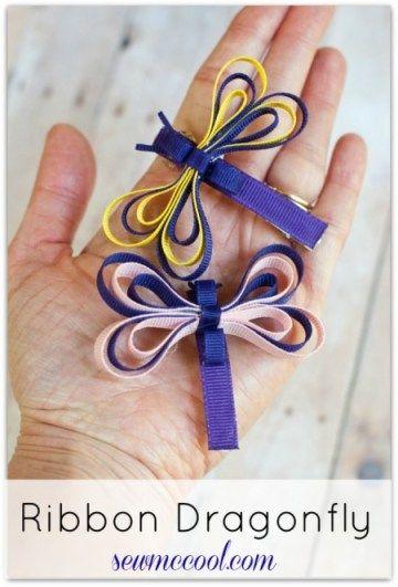 Ribbon dragonfly sculpture tutorial
