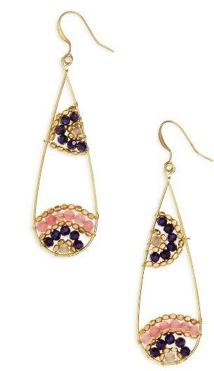 Panacea Beaded Teardrop Earrings ad Jewelry and jewelry