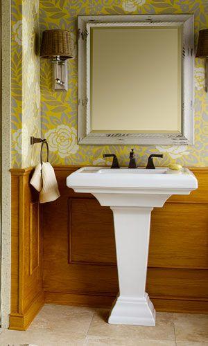 Inspiring Bathrooms at Shop.Ferguson.com Shape of sink | Powder Room ...