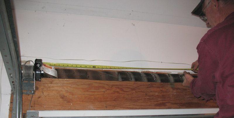 How To Measure Garage Door Torsion Springs Diy Instructions