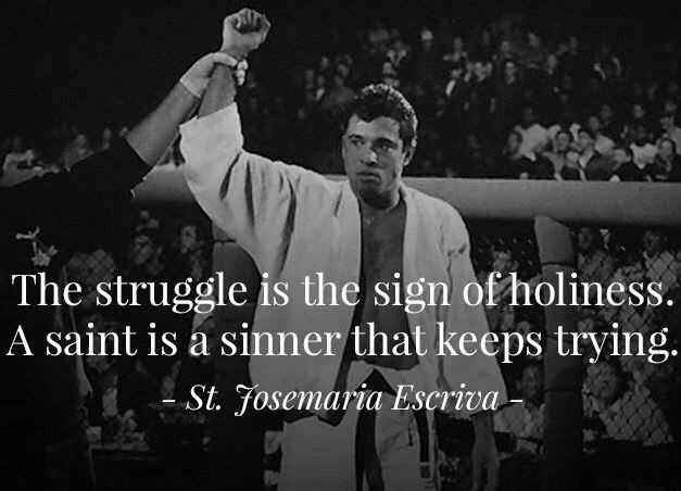 The Struggle Is The Sign Of Holiness A Saint Is A Sinner That Keeps Trying St Josemaria Escriva Truth Saint Quotes Catholic Saint Quotes Catholic Prayers
