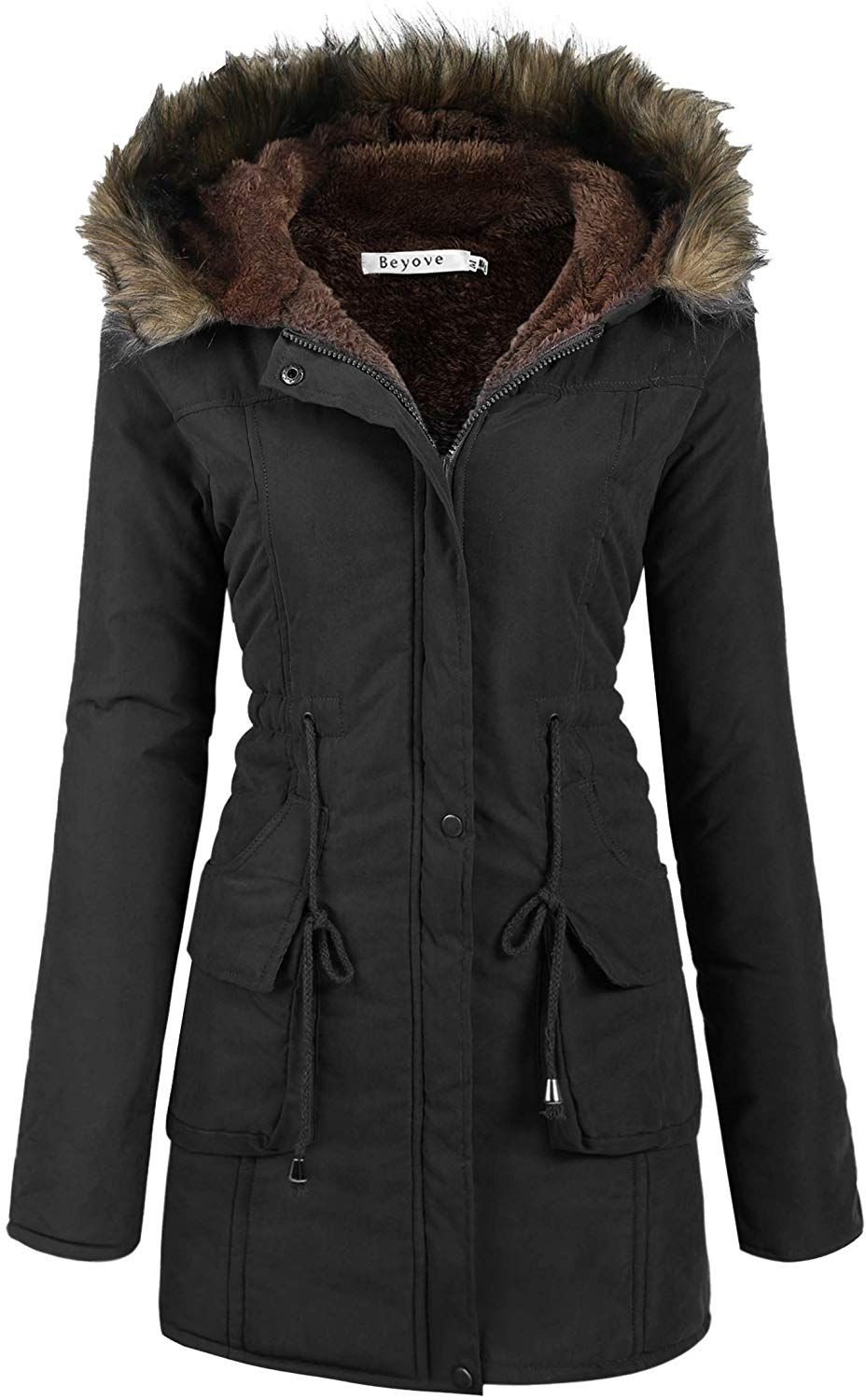 Beyove Womens Hooded Warm Winter Coats with Faux Fur Lined Outerwear JacketClothing, Amazon Affiliate link. Click image for detail, #Amazon #beyove #womens #hooded #warm #winter #coats #faux #fur #lined #outerwear #jacketclothing #quality #fabric #cold #prevent #heat #losingsuper #soft #lining #makes #retentionhood #extra #artificial #lamb #jacket #stylishadjustable #drawstring #waistgive #spa