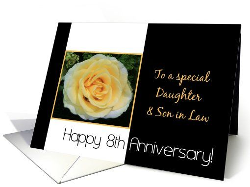 8th Wedding Anniversary Card For Daughter And Son In Law Yellow Rose Car Wedding Anniversary Cards 30th Wedding Anniversary Card Anniversary Card For Parents