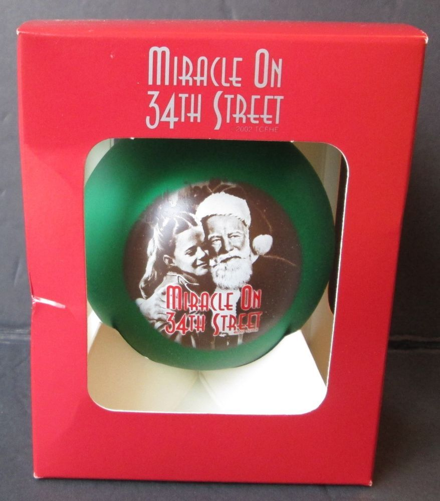 Christmas Tree Miracle Movie: MIRACLE ON 34TH STREET CHRISTMAS ORNAMENT