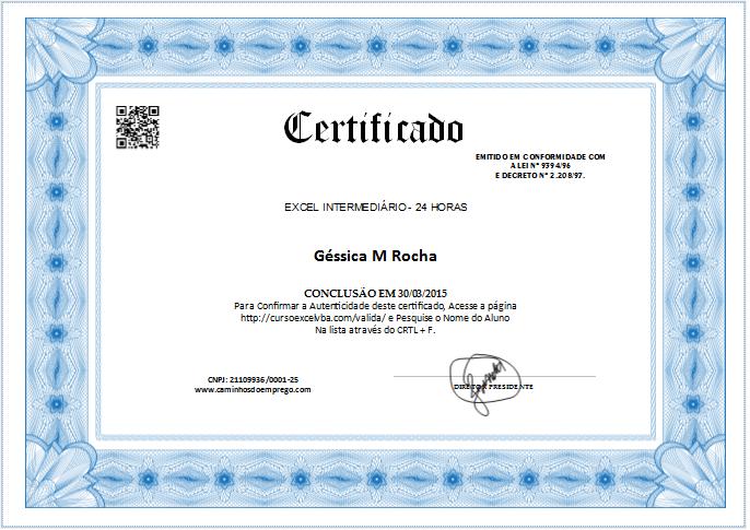 Resultado de imagem para certificados para preencher e imprimir ...