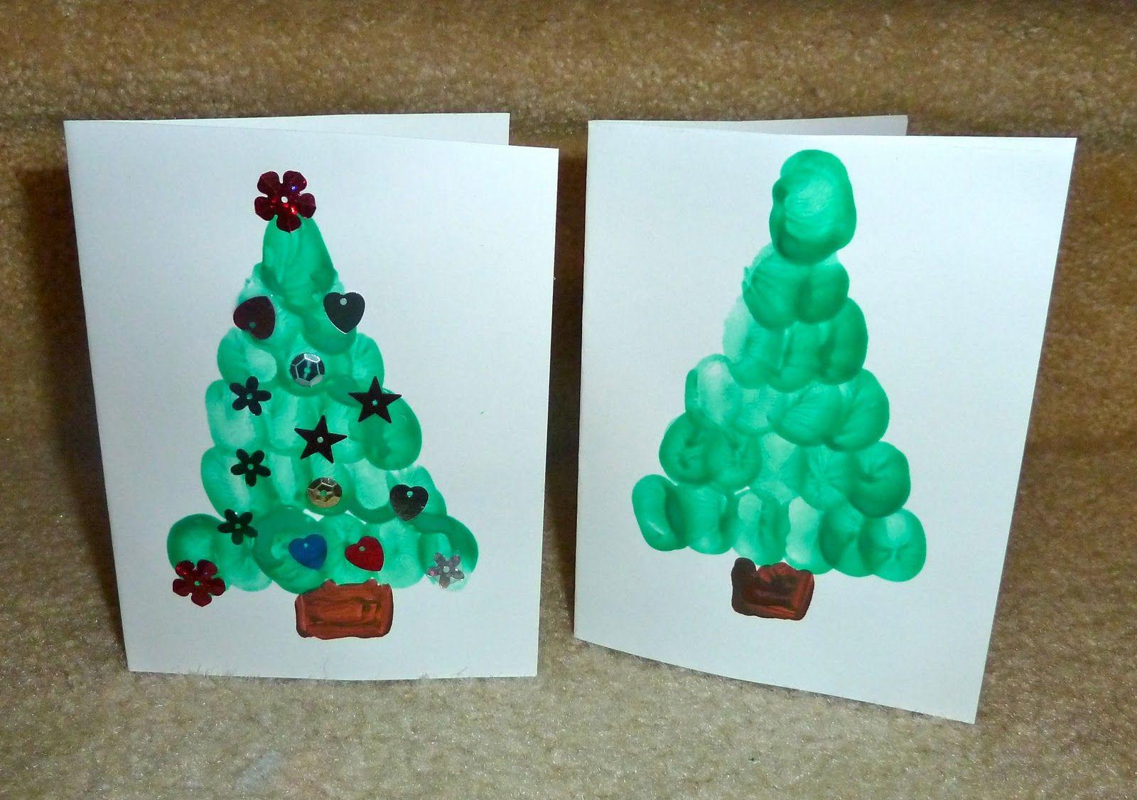 Lavoretti Biglietti Di Natale.25 Facili Lavoretti Di Natale Alberi Di Natale Pinterest