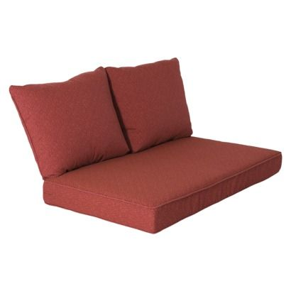 Sleeper Sofas Mooreana Piece Outdoor Loveseat Replacement Cushion Set Red