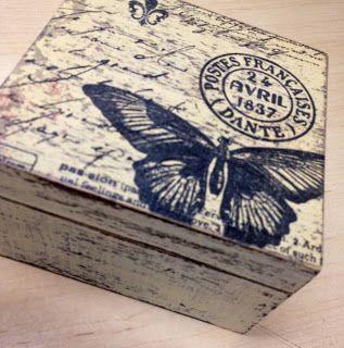 Pinterest Manualidades En Madera.Caja Decapada Y Con Decopach Decapado Decoupage Box Decoupage