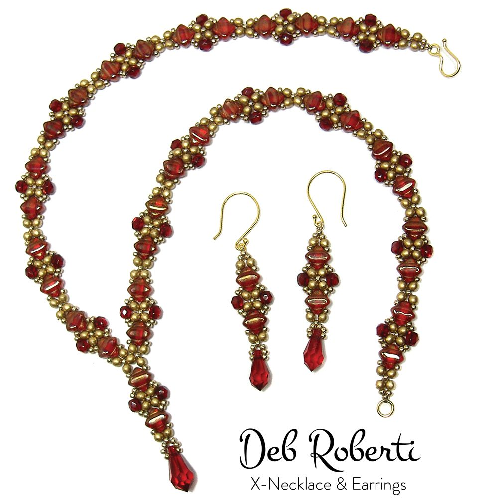 New necklace and earring pattern by Deb Roberti | Beading חרוזים ...