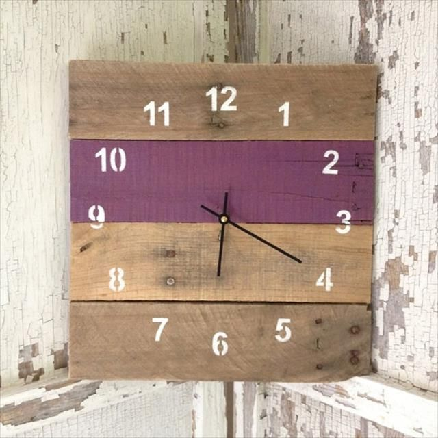 10 Easy Diy Wall Clock Ideas For Room Pallets Diy