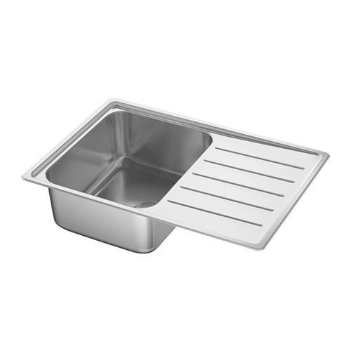 Vattudalen Inset Sink 1 Bowl With Drainboard Stainless