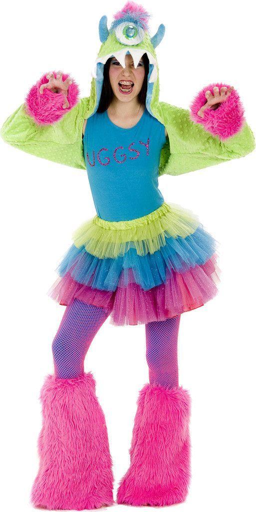 Girls Uggsy Monster Tween Costume - Green - Tween for Halloween  sc 1 st  Pinterest & Uggsy Monster Tween Costume | furry | Pinterest | Tween costumes ...