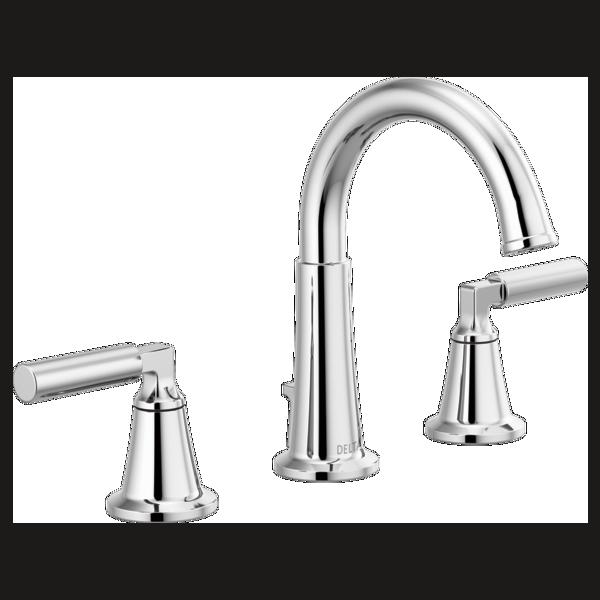 Two Handle Widespread Bathroom Faucet 35548lf Mpu Delta Faucets Bathroom Faucets Widespread Bathroom Faucet