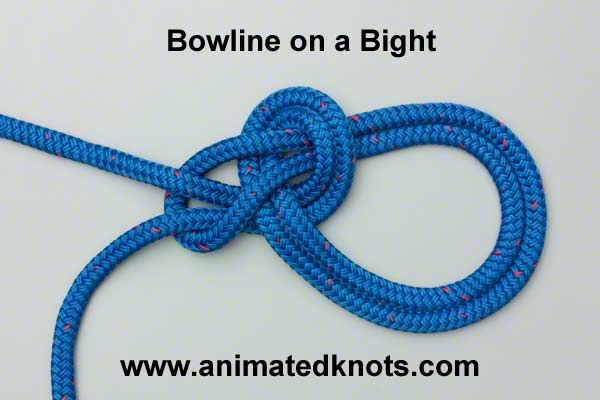 bowline on a bight how to tie a bowline on a bight boating knots
