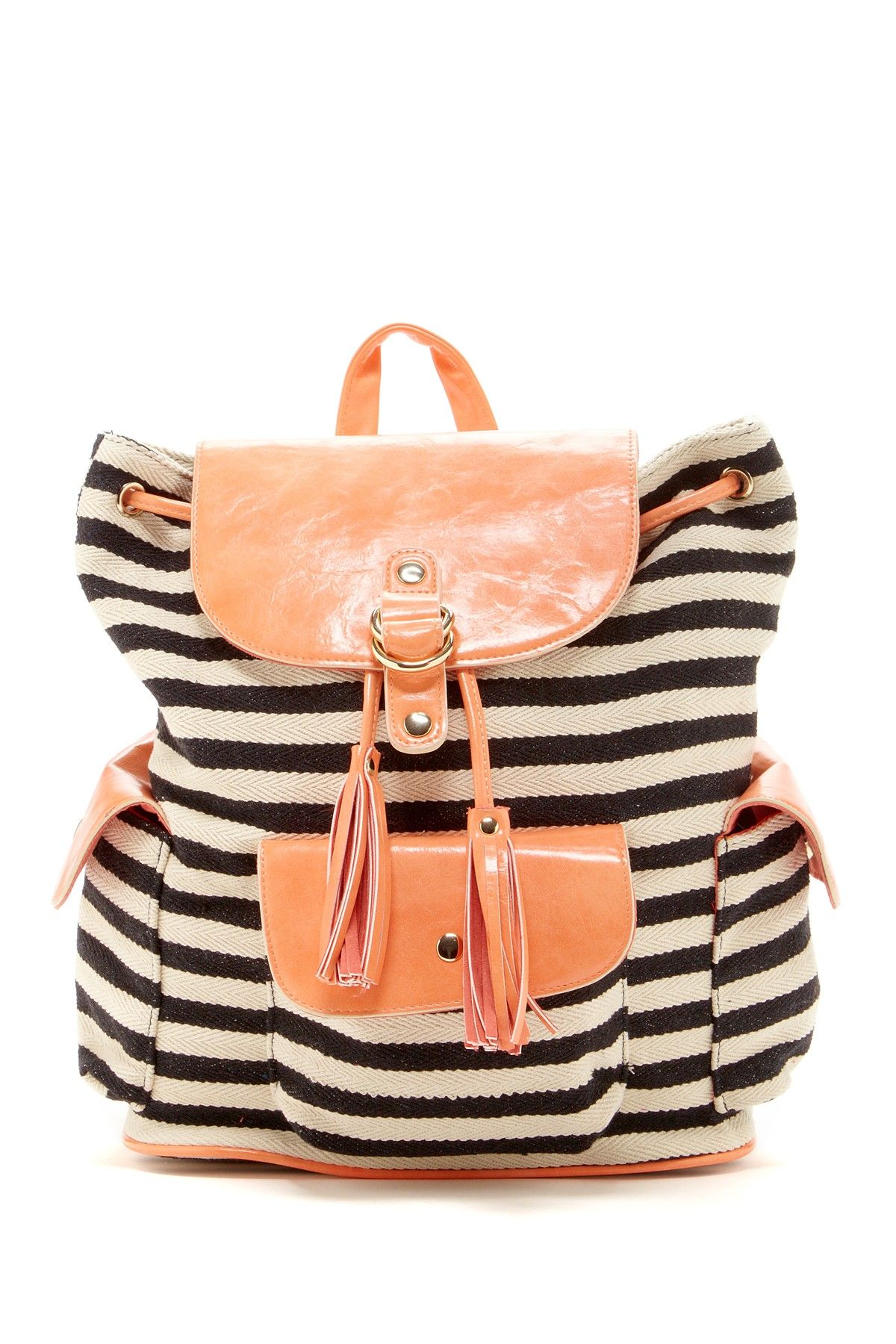 cb309baeb15 Striped Backpack | Accessories | Fashion bags, Striped backpack, Bag ...