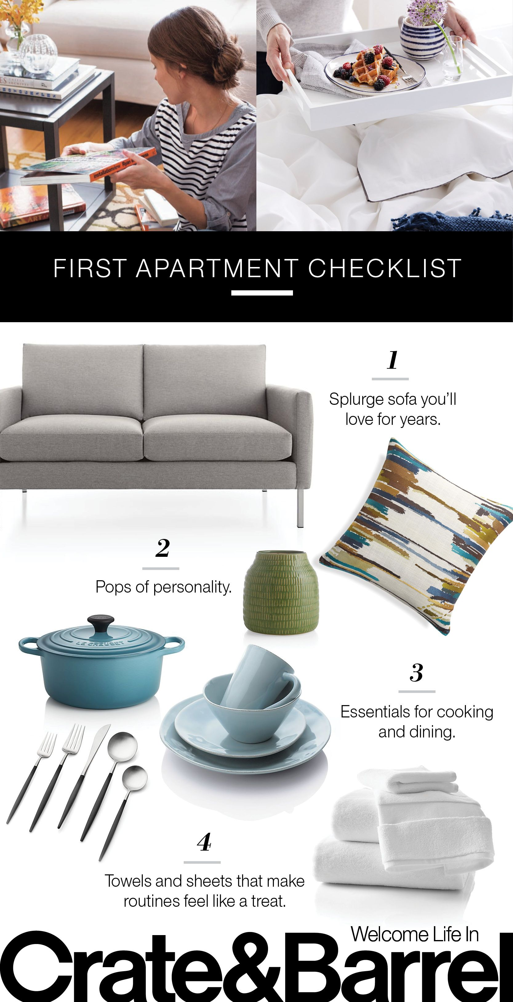 Finally Your Own Place Our Checklist Shows You What Need And How To Have Fun Making First Apartment Uniquely Yours