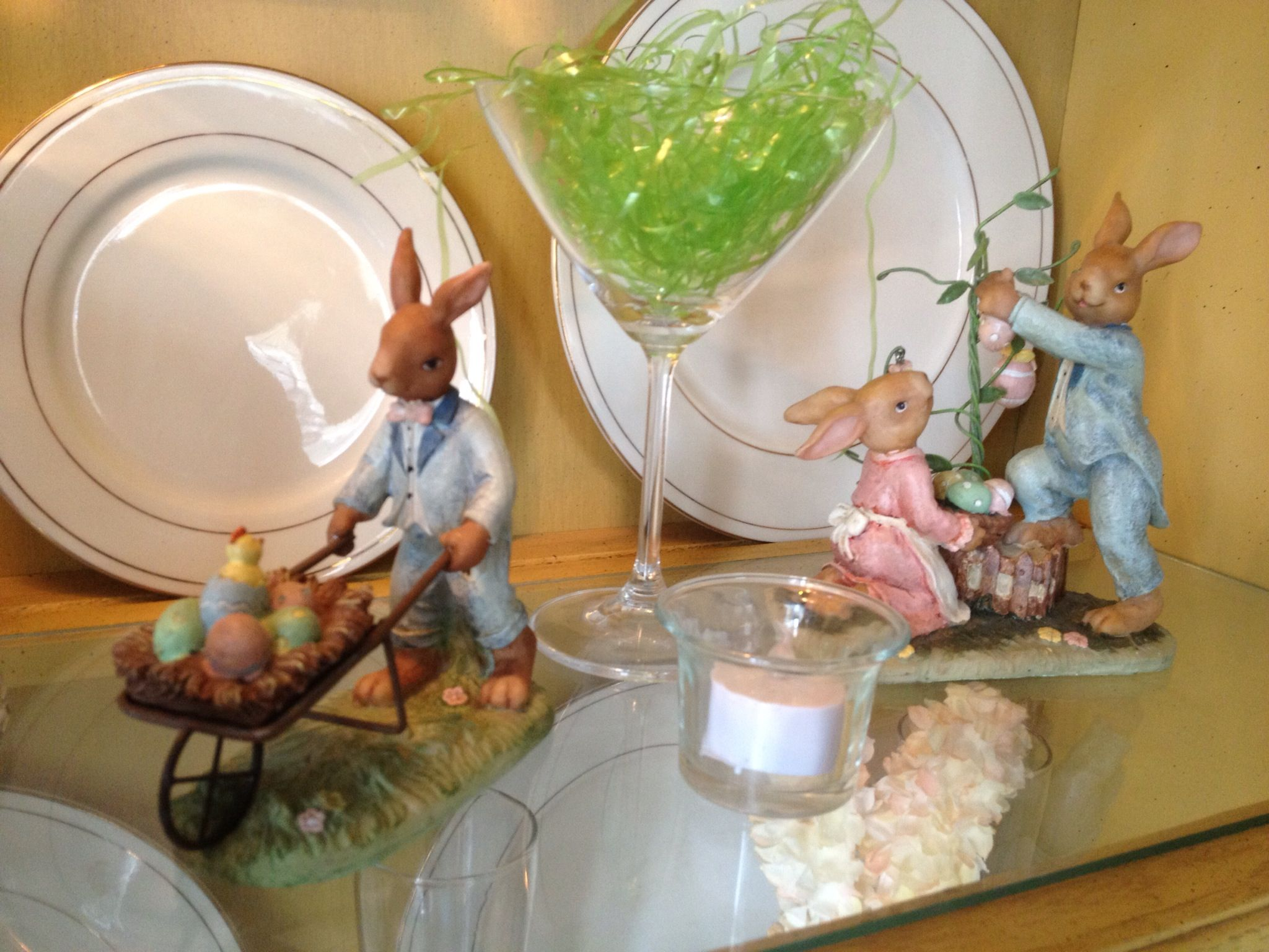 Decorated Cooking Urn Remember To Decorated Inside China Cabinet For Easterwhat A Fun