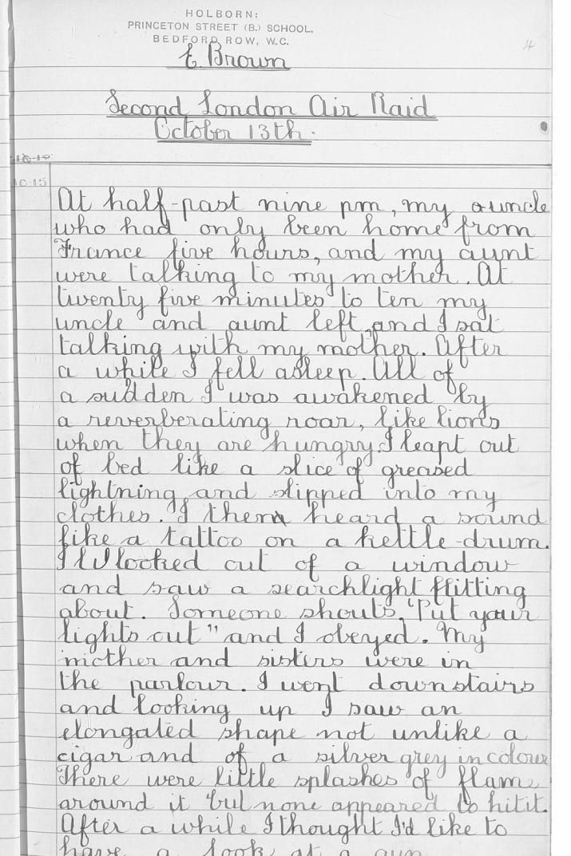 First world war essay