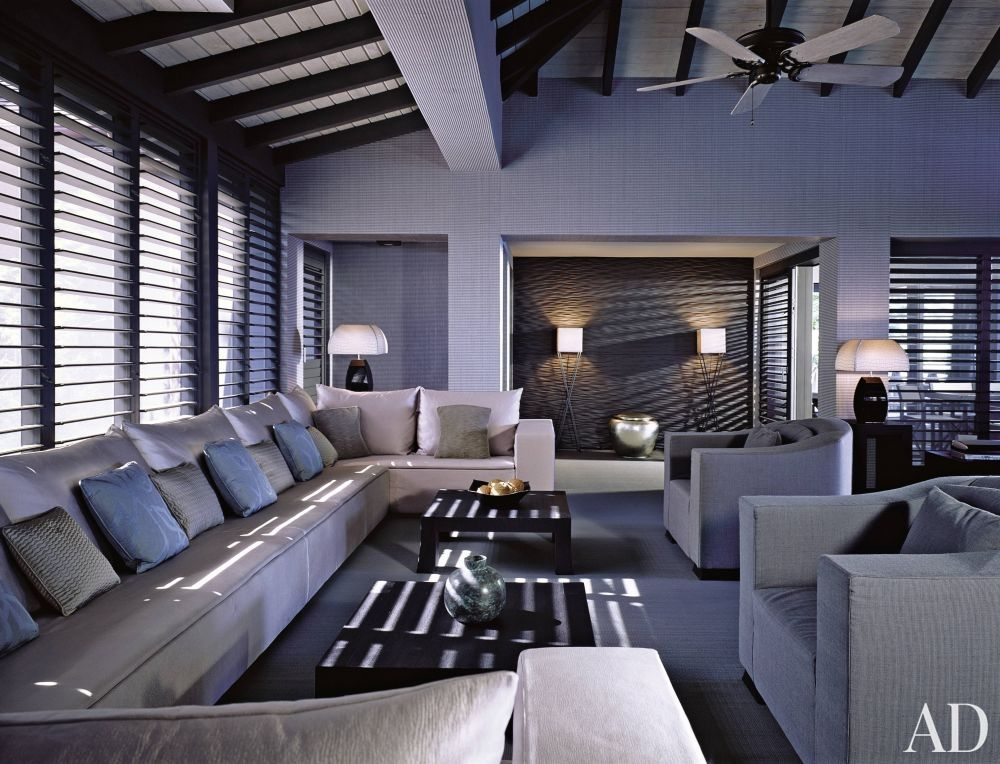 Modern Living Room By Giorgio Armani In Antigua Inside Celebrity Homes Living Room Decor Modern Armani Home
