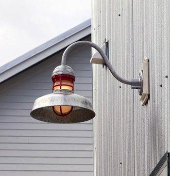 Outback Gooseneck Light Contemporary Exterior Tampa Barn