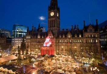 Manchester's famous Christmas Markets, at 8 picturesque city centre locations