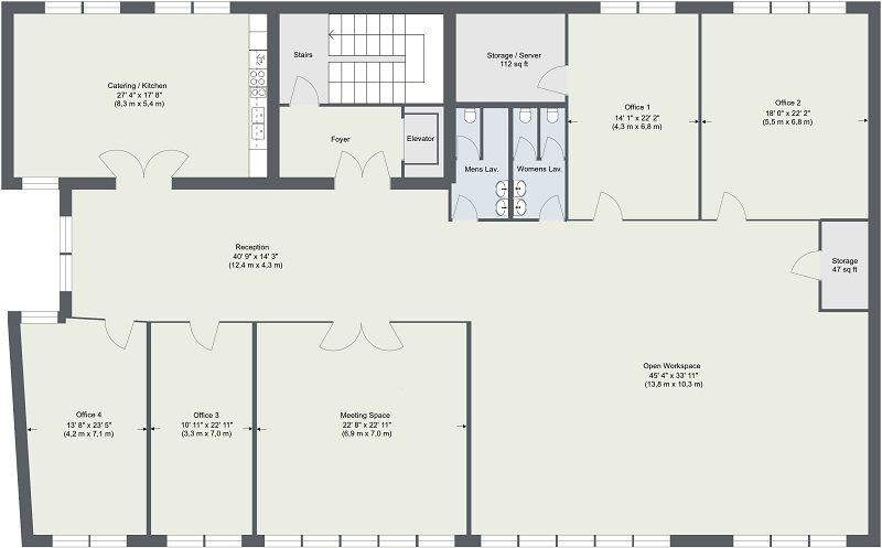 Commercial Real Estate Floor Plans Floor Plans Office Floor Plan Space Planning