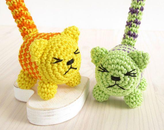 Muster: Rattle Cat - Gestricken kleine Baby-Rassel - Amigurumi ...