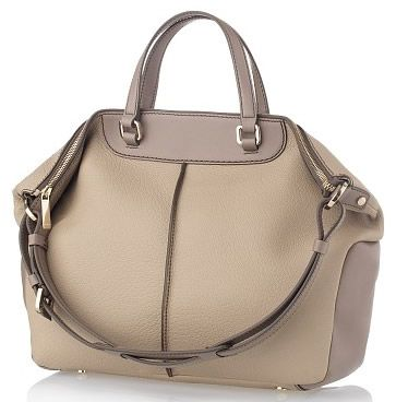 Tods Medium Leather Tote Bag Light Crete Grey And
