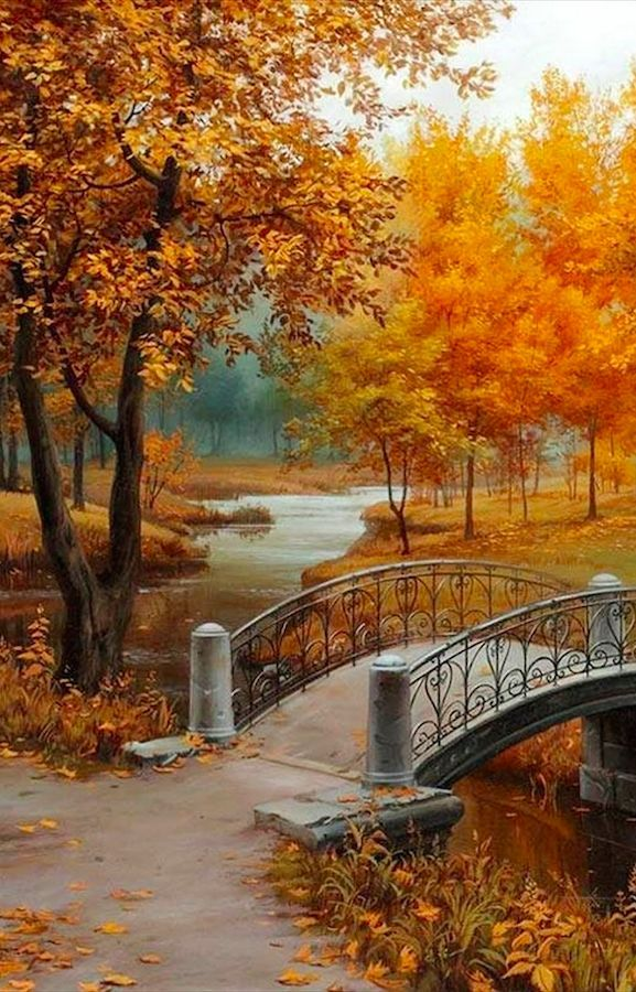 Autumn in the park • artist Evgeny Lushpin                                                                                                                                                                                 More is part of Autumn scenery -