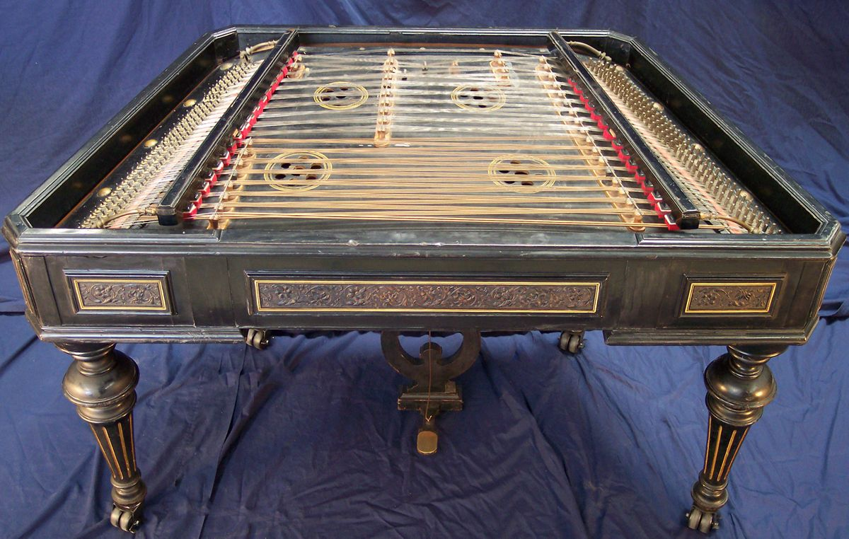 Cimbalom (from Emil Richards Collection). Range E2-E6, with an additional lower D2 string