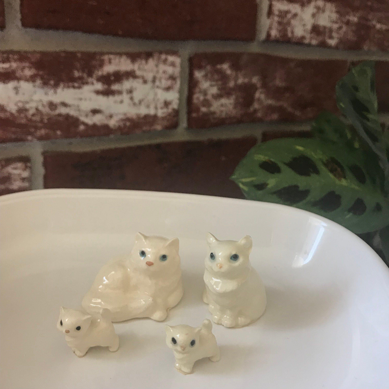 Hagen Renaker Miniature White Persian Cat Figurines Hagen Renaker Cat Cat Family Miniature Cat Family Hagen Renake Persian Cat Persian Cat White Cat Family