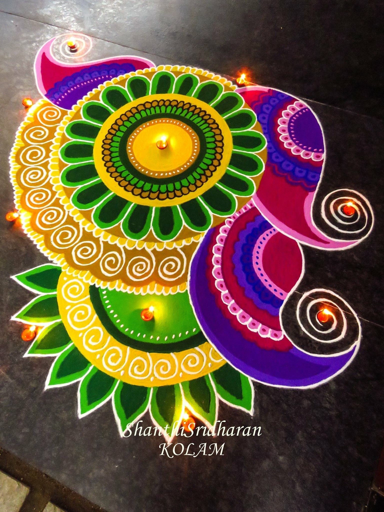 mandala#paisley#green#tellow#kolam#rangoli | Mandala | Pinterest ... for Rangoli Designs With Theme Go Green  15lptgx