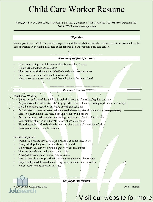 42++ Child care provider resume skills Resume Examples