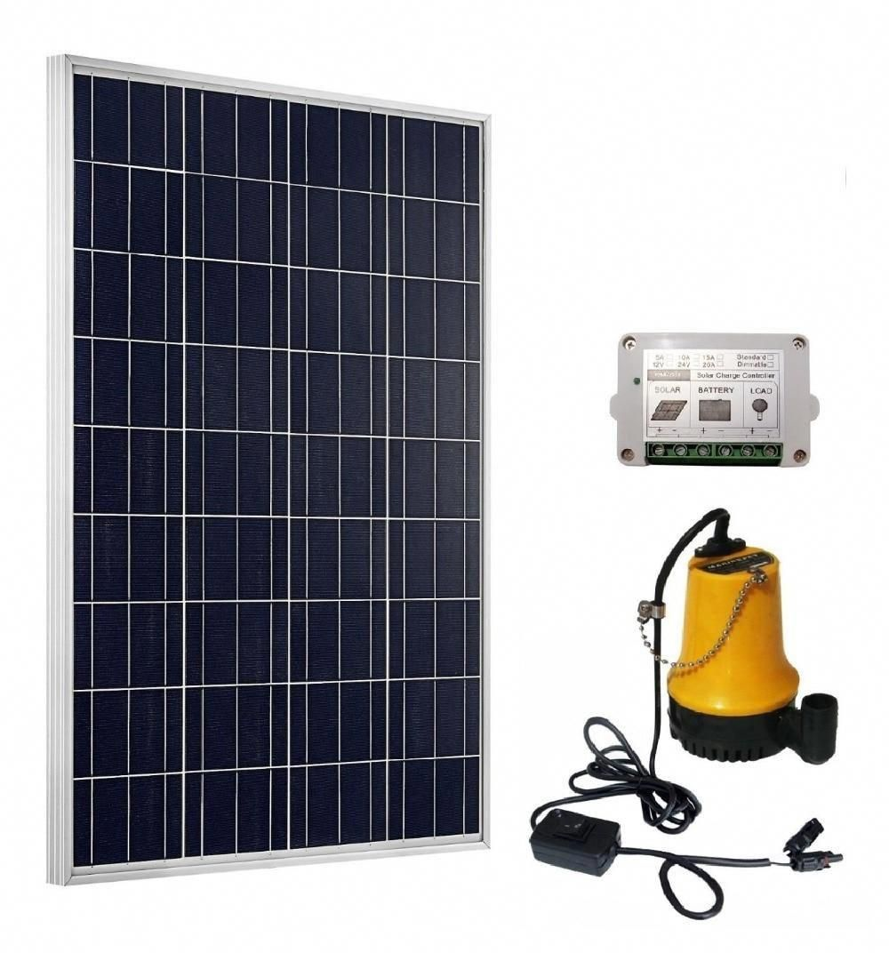 Solar Pump System Kits 100w Solar Panel 12v Pond Water Pump 15a Controller Yesterday S Price Us 202 40 180 40 Eur In 2020 Solar Panels Solar Best Solar Panels