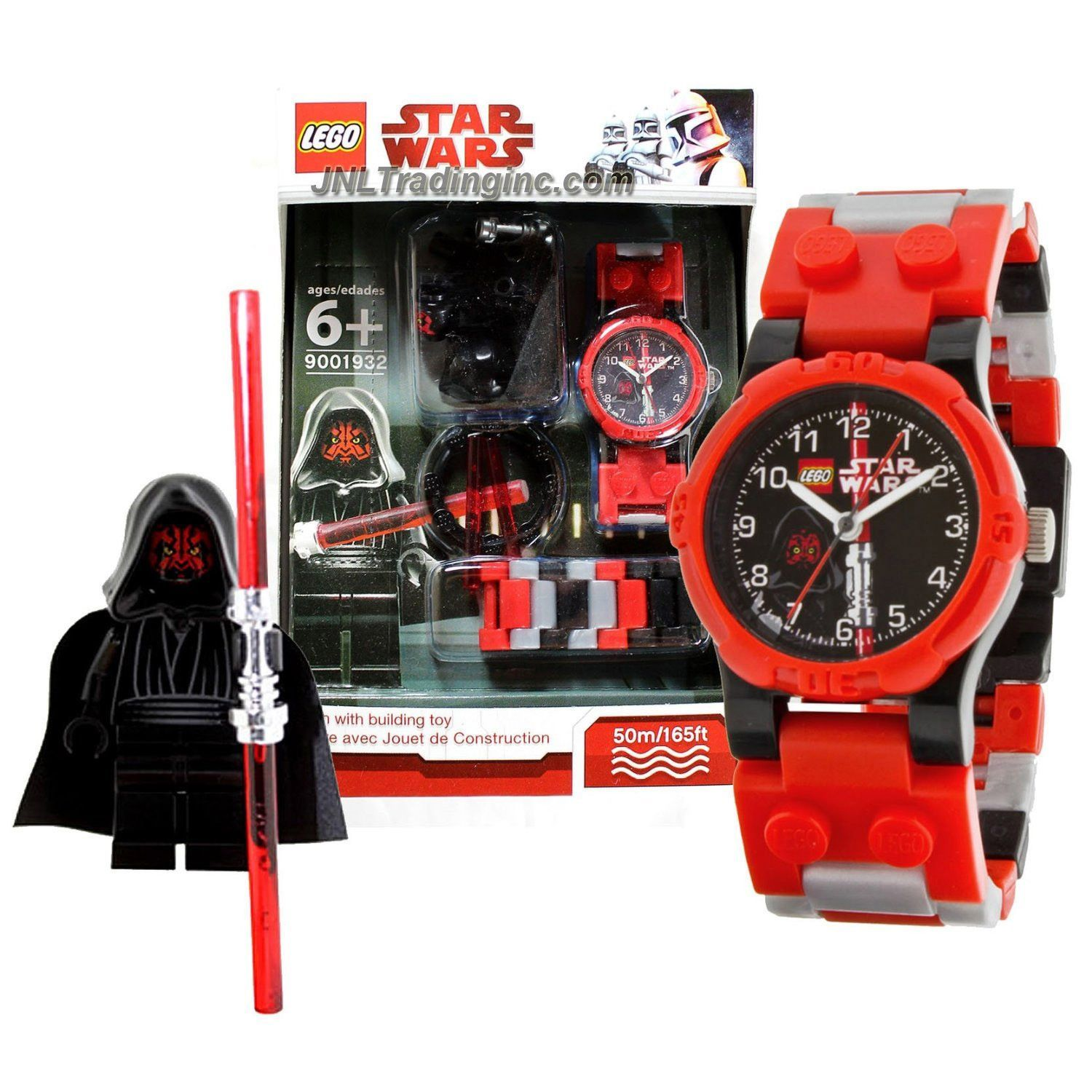 Lego Star Wars Series Watch Set 9001932 Darth Maul Watch Plus Darth Maul Minifigure With Red Double Lightsaber Water Resistant 50m 165ft Lego Star Wars Lego Darth Maul