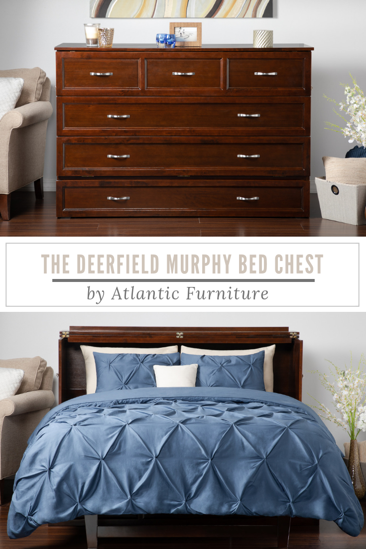 Deerfield Murphy Bed Chest With Charging Station Murphy