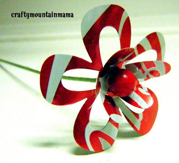Individual Soda Can Flowers Medium 2 1/2 YOU by craftymountainmama, $4.00
